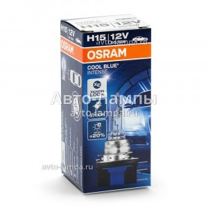 Галогеновая лампа Osram H15 Cool Blue Intense (+20%) - 64176CBI (карт. короб.)