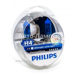 Philips H4 DiamondVision - 12342DVS2 (пласт. бокс)