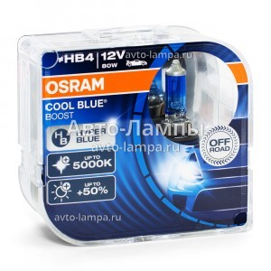 Комплект галогеновых ламп Osram HB4 Cool Blue Boost - 69006CBB-HCB