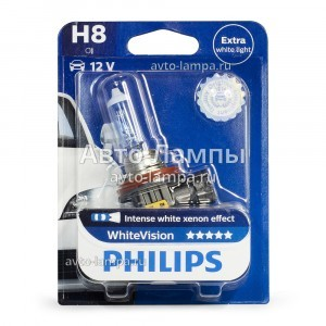 Галогеновая лампа Philips H8 WhiteVision - 12360WHVB1
