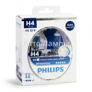 Philips H4 WhiteVision - 12342WHVSM (пласт. бокс)