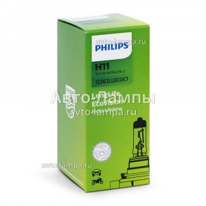 Philips H11 LongLife EcoVision - 12362LLECOC1 (карт. короб.)