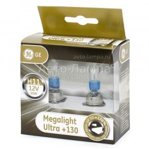 General Electric H11 Megalight Ultra +130%