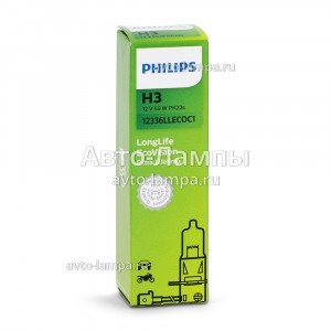 Philips H3 LongLife EcoVision