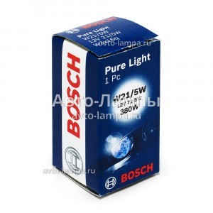 Лампа накаливания Bosch W21/5W Pure Light - 1 987 302 252