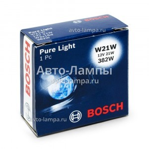 Лампа накаливания Bosch W21W Pure Light - 1 987 302 251