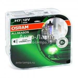 Комплект галогеновых ламп Osram H7 AllSeason - 64210ALL-HCB (пласт. бокс)