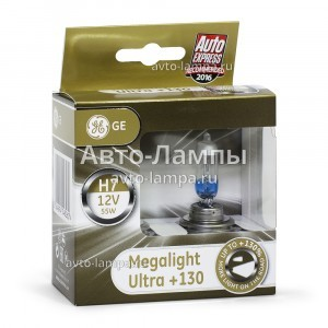 Галогеновые лампы General Electric H7 Megalight Ultra +130%