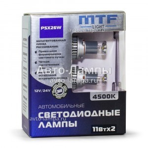 Светодиоды MTF-Light PSX26W LED FOG - FL11526 (4500K)