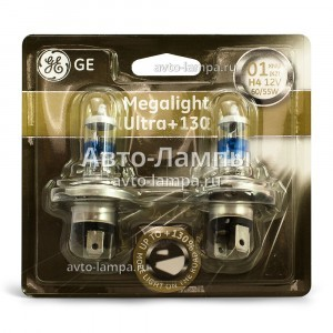 General Electric H4 Megalight Ultra +130% - 50440XNU-93033325 (блистер)
