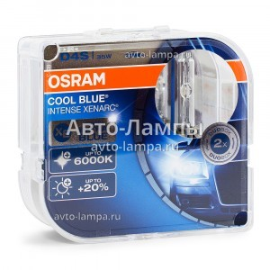 Комплект ксеноновых ламп Osram D4S Cool Blue Intense (+20%) - 66440CBI-HCB (пласт. бокс)