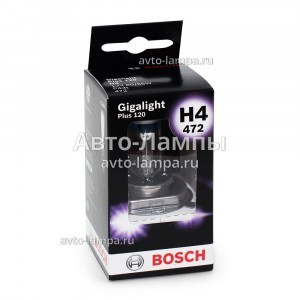 Bosch H4 Gigalight Plus 120 - 1 987 301 160 (диз. упак. x1)