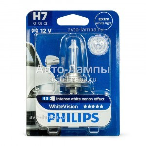Philips H7 WhiteVision - 12972WHVB1 (блистер)