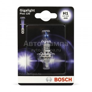 Галогеновая лампа Bosch H1 Gigalight Plus 120 - 1 987 301 108 (блистер)
