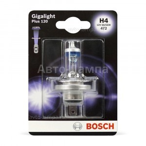 Bosch H4 Gigalight Plus 120 - 1 987 301 109 (блистер)