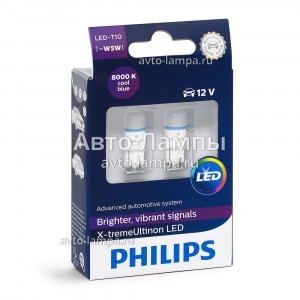 Philips W5W X-treme Ultinon LED - 127998000KX2 (бело-голубой)