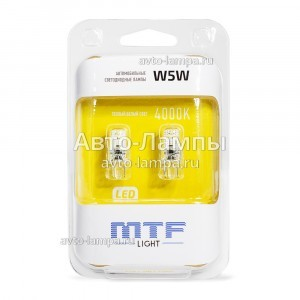 MTF-Light W5W VEGA - W5W40GA (тепл. белый)