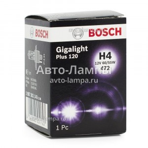 Bosch H4 Gigalight Plus 120 - 1 987 302 140 (карт. упак. x1)