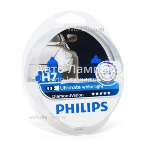 Philips H7 DiamondVision - 12972DVS2 (пласт. бокс)