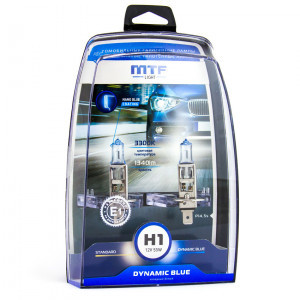 Комплект галогеновых ламп MTF-Light H1 Dynamic Blue - HDB1201