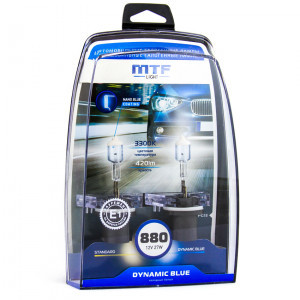 Комплект галогеновых ламп MTF-Light H27/880 Dynamic Blue - HDB1280