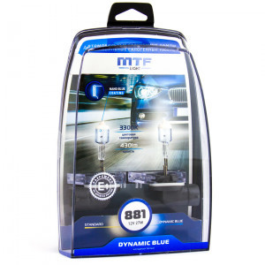 Комплект галогеновых ламп MTF-Light H27/881 Dynamic Blue - HDB1281