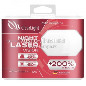 Галогеновые лампы ClearLight HB4 Night Laser Vision - ML9006NLV200