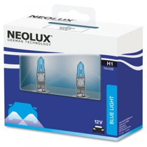 Комплект галогеновых ламп Neolux H1 Blue Light - N448B-SCB (карт. упак. x2)