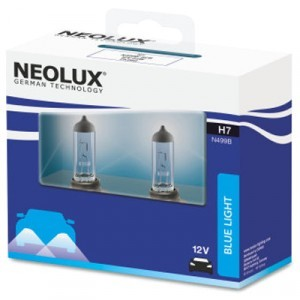 Комплект галогеновых ламп Neolux H7 Blue Light - N499B-SCB (карт. упак. x2)
