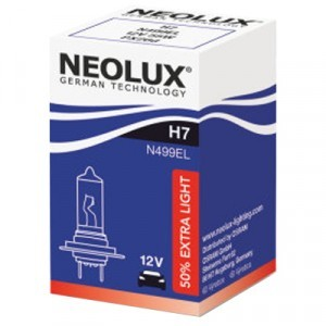 Галогеновая лампа Neolux H7 Extra Light - N499EL (карт. упак. x1)