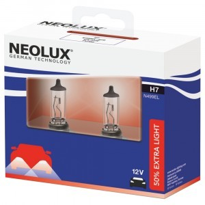 Комплект галогеновых ламп Neolux H7 Extra Light - N499EL-SCB (карт. упак. x2)