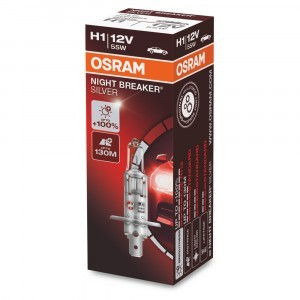 Галогеновая лампа Osram H1 Night Breaker Silver - 64150NBS (карт. короб.)