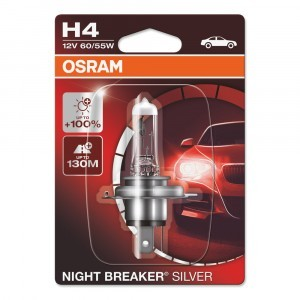 Галогеновая лампа Osram H4 Night Breaker Silver - 64193NBS-01B (блистер)