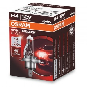 Галогеновая лампа Osram H4 Night Breaker Silver - 64193NBS (карт. короб.)