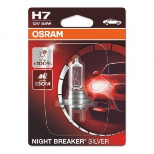 Галогеновая лампа Osram H7 Night Breaker Silver - 64210NBS-01B (блистер)