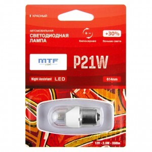 MTF-Light P21W Night Assistant - NP21WR (красный)