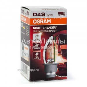 Osram D4S Xenarc Night Breaker Unlimited (+70%) - 66440XNB (карт. короб.)