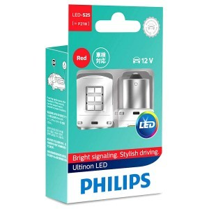 Philips P21W Ultinon LED Red - 11498ULRX2